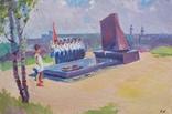 """В.Кнышевский """"На Болдиных горах"""",х.м.40х60см,1982г, фото №2"""