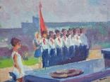 """В.Кнышевский """"На Болдиных горах"""",х.м.40х60см,1982г, фото №6"""