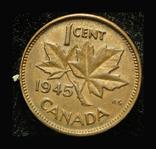Канада цент 1945, фото №2
