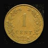 Нидерланды 1 цент 1902, фото №2