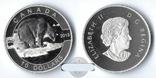 Канада 10 долларов 2013 Белый Медведь серебро Пруф, фото №2