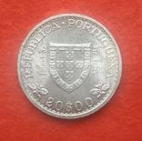 Португалия 20 эскудо 1960 серебро Юбилейные, фото №3