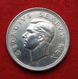 Британская Южная Африка 5 шиллингов 1952 Парусник СЕРЕБРО Георг VI, фото №3