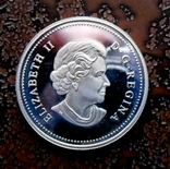 50 центов Канада 2004 серебро, фото №2