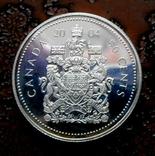 50 центов Канада 2004 серебро, фото №3