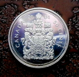 50 центов Канада 2004 серебро, фото №5