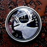 25 центов Канада 2004 серебро, фото №3