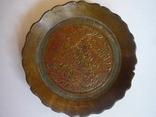 Бронзовая старая пепельничка индия, фото №3