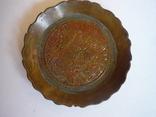 Бронзовая старая пепельничка индия, фото №5