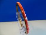 Винтажный браслет-обруч. Латунь, коралл., фото №2