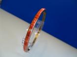 Винтажный браслет-обруч. Латунь, коралл., фото №4