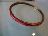 Винтажный браслет-обруч. Латунь, коралл., фото №7