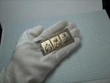 Серебряная Икона Триптих Исус Богородица Николай для Водителя Серебро 925 проба 127 фото 6
