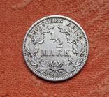 1/2 марки 1907 г. (G) Германия, серебро, фото №2
