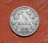 1/2 марки 1907 г. (G) Германия, серебро, фото №3