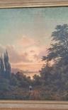 Картина закат солнца. Репродукция на картони 1971 год., фото №3