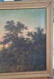 Картина закат солнца. Репродукция на картони 1971 год., фото №4