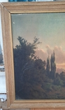 Картина закат солнца. Репродукция на картони 1971 год., фото №6