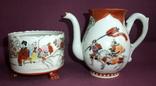 Чайник и сахарница Япония ручная роспись ХIXв. - начало XX в., фото №3