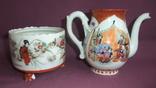 Чайник и сахарница Япония ручная роспись ХIXв. - начало XX в., фото №2