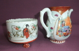 Чайник и сахарница Япония ручная роспись ХIXв. - начало XX в., фото №5