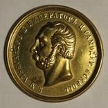 Накладной медальон Александр 2. Позолота, фото №3
