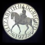 Великобритания крона 1977 пруф серебро 28.28 грамм 925 пробы, фото №2