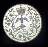 Великобритания крона 1977 пруф серебро 28.28 грамм 925 пробы, фото №3