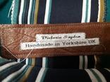 Кожаный клатч Victoria Sugden Йоркшир Великобритания. Ручная работа, фото №6