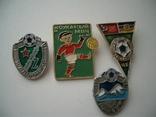 Значки футбол СССР-Арарат,Жальгирис,Кожаный мяч,ЧЕ-87, фото №2