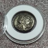 Викториат 211-208 до н. э., надпись на реверсе Roma, фото №2