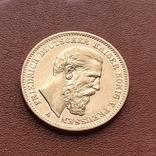 Золото. 20 марок 1888 г. Пруссия, фото №4