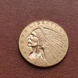 2 1/2  доллара  США 1912 г. с изображением индейца., фото №3