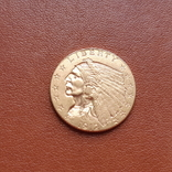 2 1/2  доллара  США 1912 г. с изображением индейца., фото №4