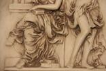 Картина  ,, Античний сюжет ,, Англія. Мраморная крошка. розмір в рамі 42Х37см., фото №6