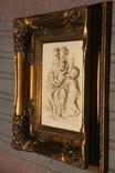 Картина  ,, Античний сюжет ,, Англія. Мраморная крошка. розмір в рамі 42Х37см./, фото №7