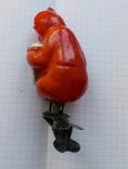 Елочная игрушка  Медведь с гармошкой, фото №4