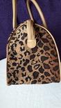 Дорожня сумка Casa di Borse леопардового принту, фото №7