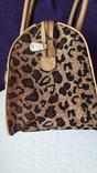 Дорожня сумка Casa di Borse леопардового принту, фото №8