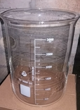 Лабораторный стакан ,градуированый 3000мл(низкий с носиком) термостойкий., фото №2
