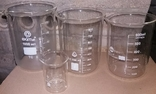 Лабораторные стаканы градуированые 1000,800,600,100мл(низкие с носиком) термостойкие, фото №2