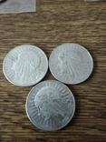 10 злотых 1932  3 шт., фото №3