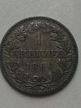 1- крейцер 1866 г Франфурт, фото №5