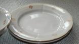 Четыре тарелки и пиала дружковский ф/з, фото №5