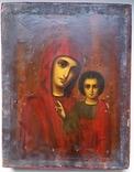 Ікона Казанської Богородиці, 21,9х17,1х2,5 см, фото №3