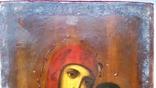 Ікона Казанської Богородиці, 21,9х17,1х2,5 см, фото №6