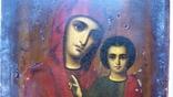 Ікона Казанської Богородиці, 21,9х17,1х2,5 см, фото №7