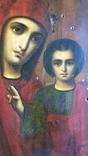 Ікона Казанської Богородиці, 21,9х17,1х2,5 см, фото №9
