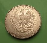 Талер 1859г. 100-лет Фридриха Шиллера, Франкфурт., фото №2