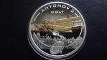1 доллар 2008 о-ва Кука Ан-2 Кольт серебро+позолота (3.4.3), фото №2